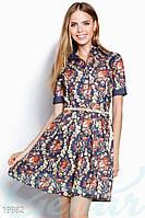Джинсовое цветочное платье