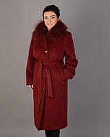 Зимнее длинное пальто ворсовый кашемир