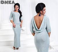 Платье Новогоднее Люрексовое длинное ментол норма и Батал