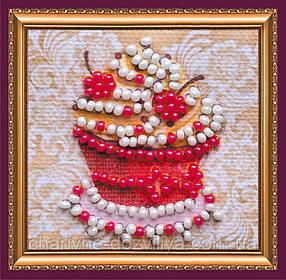 Набор для вышивки бисером мини-магнита «Любимое пирожное»