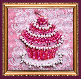 Набор для вышивки бисером мини-магнита «Сладкая корзинка»