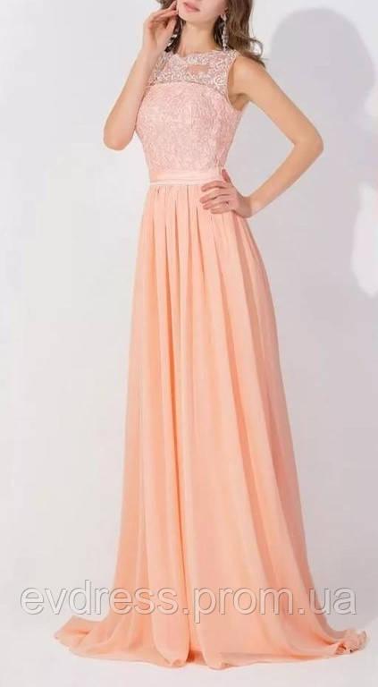 b92b32429f4 Вечернее выпускное платье в пол нежно персикового цвета  продажа ...
