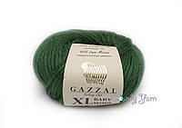 Gazzal Baby Wool XL, зеленый №814