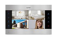 Цветной видеодомофон Slinex SL-10 IP черный + серебро, фото 1