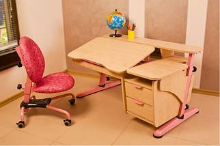 Детская парта растишка стол трансформер Pondi / Понди Эргономик с тумбой из ДСП, фото 3