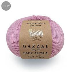 Gazzal Baby Alpaca 55 % Бэби Альпака, 45 % Мериносовая шерсть файн супервош