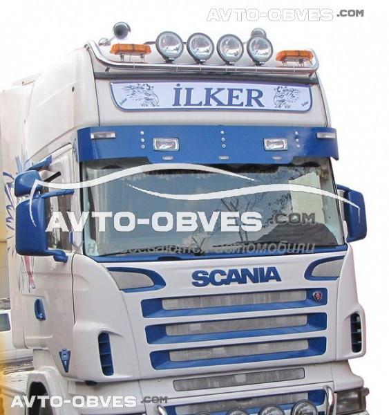 Держатель под фары Scania 124 R -> Новая услуга - установка диодов