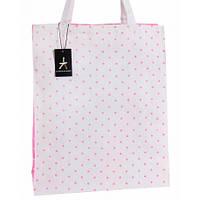 12-14 Бело-розовая женская сумка для покупок в горошек Primark Atmosphere Doroteja