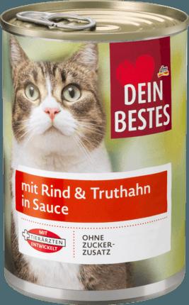 Мясное рагу для кошек Dein Bestes mit Rind & Truthahn, 400 гр.