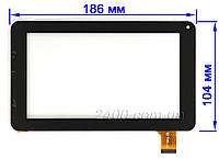 Сенсор (тачскрин) для планшета Bravis NB70 черный 186*104 мм 30pin