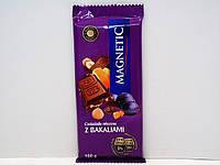 Шоколад Magnetic (молочный) изюм с орехами 100гр