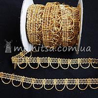 Тесьма люрексовая Бельарк, 1,8 см, золото
