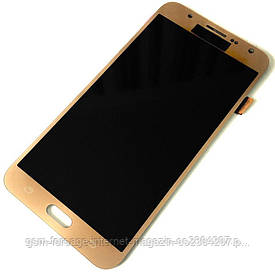 Дисплей Samsung Galaxy J7 SM-J700H complete with touch Gold ( TFT )