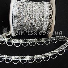 Тесьма люрексовая Бельарк, 1,8 см, серебро