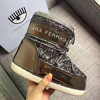 Moon Boot Chiara Ferragni  Темно-серые