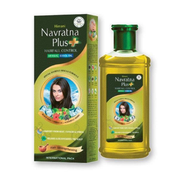 Navratna plus + 200 мл., масло от выпадения волос из 9 индийских трав NAVRATNA PLUS 200ml, Навратна плюс