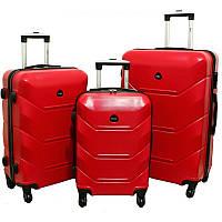 Чемодан Carbon 720 набор 3 штуки красный