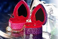 Шкатулка для украшений в виде сердца Фиолетовая