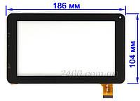 Сенсор (тачскрин) для планшета Prestigio PMP 3377  (черный/белый) 186*104 мм 30pin