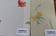 Ткань рулонных штор Цветы