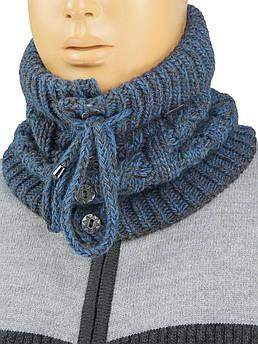 Мужской шарф-воротник Loman арт.Noel на пуговицах