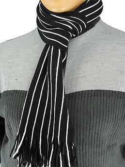 Мужской шарф в полоску 0118 разных цветов