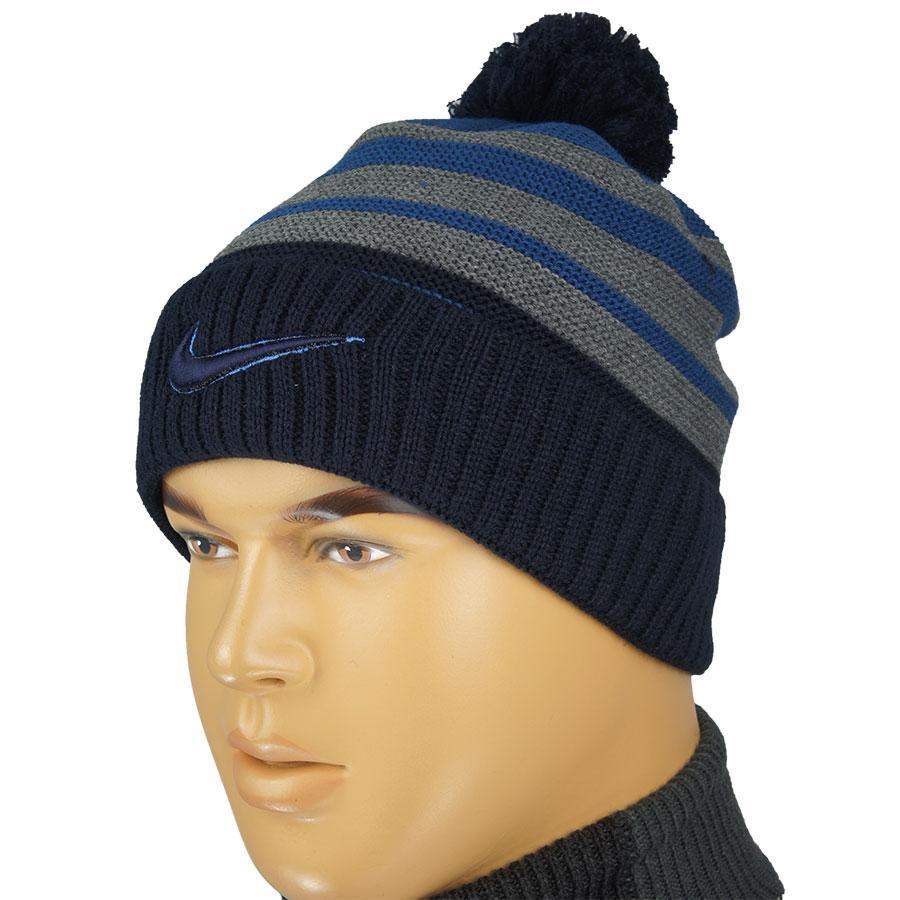 Стильная мужская шапка копия N 0198 с балабоном