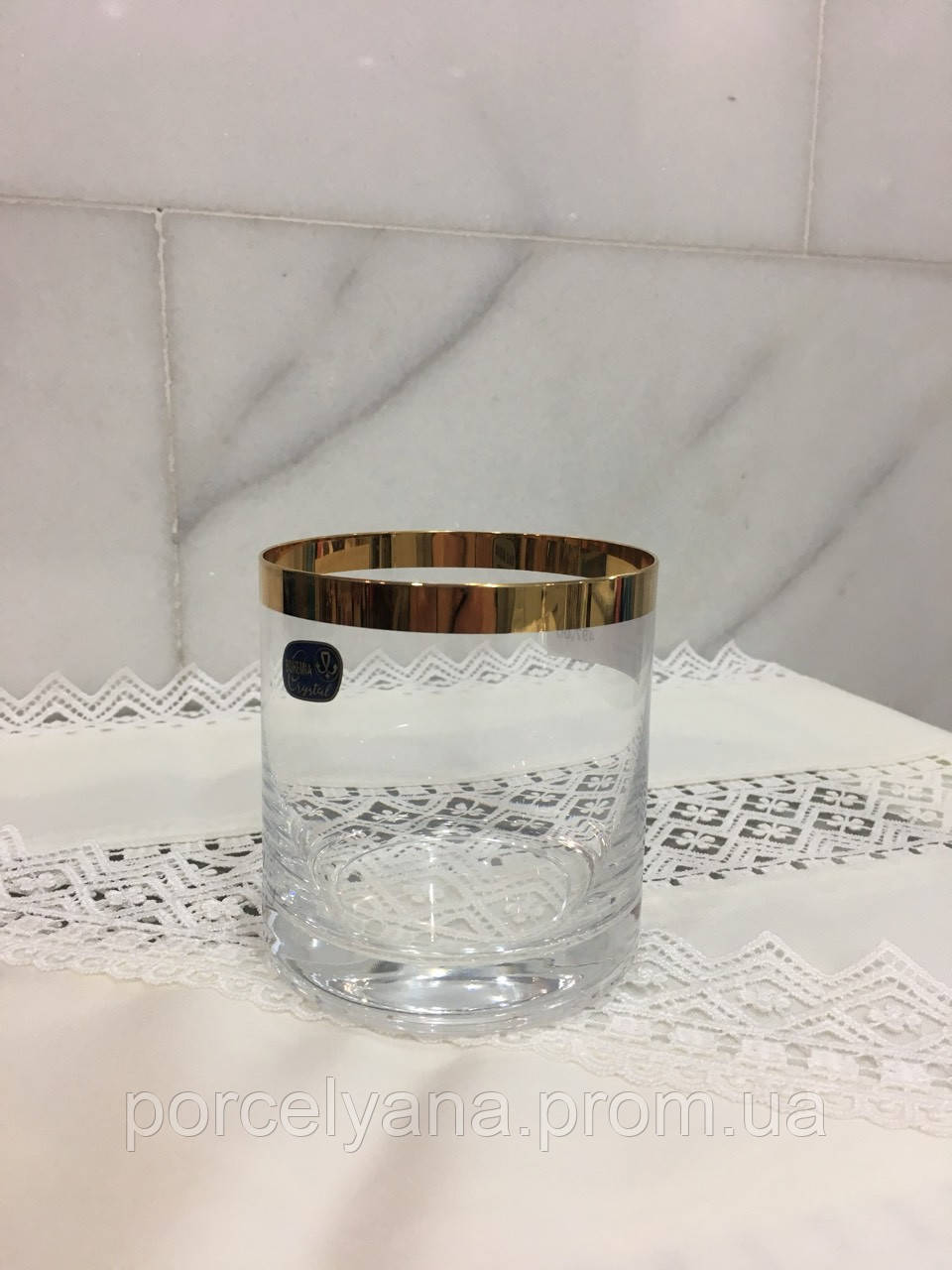 Стаканы для виски 410мл 6шт Bohemia Viola золото