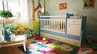 Детская кровать трансформер Аванта CLASSIC (детская кровать + кровать для новорожденных + столик + ящик)