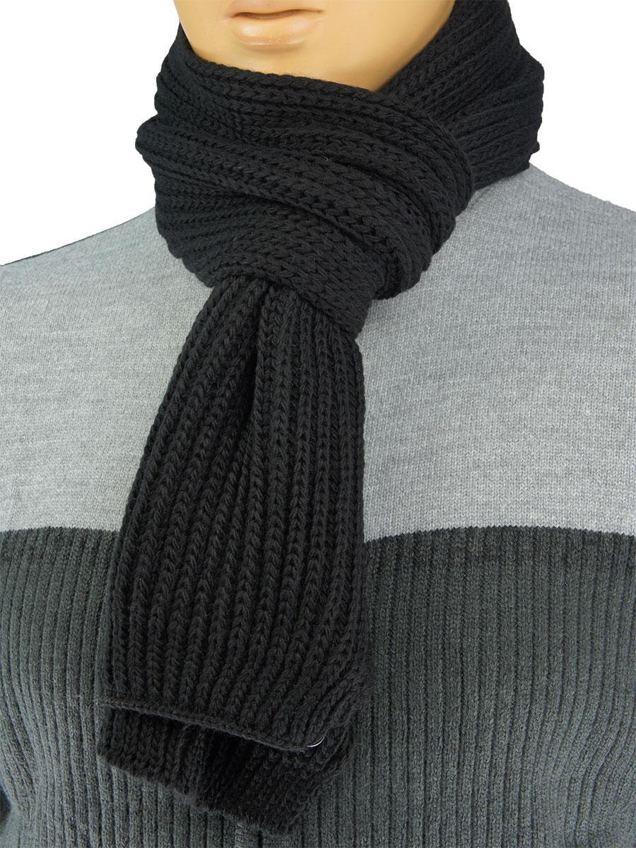 мужской вязаный шарф Apex Sport Step в черном цвете цена 200 грн