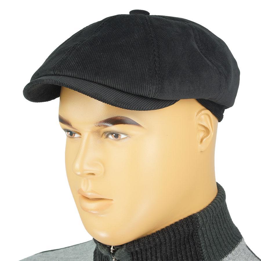 Вельветовый мужской кепка Comfort 0240 black vilvet