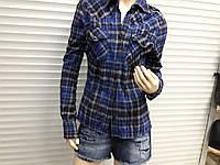 РАСПРОДАЖА классная женская рубашка  натуралка жатка размер L
