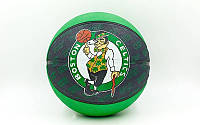 Мяч баскетбольный резиновый №7 SPLD 73935Z NBA Team Basketball-Celtics (резина, бутил, зел-чер)
