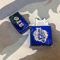 Импульсная USB - зажигалка с нанесения гравировки. Синяя , фото 1