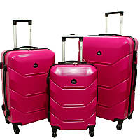 Чемодан Carbon 720 набор 3 штуки розовый