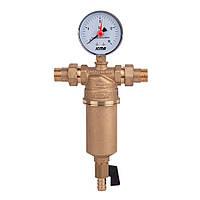 ICMA Самопромывной фильтр для воды с манометром и сливным краном