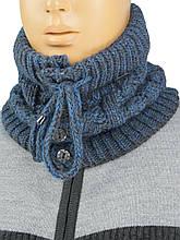 Чоловічий шарф-комір Loman арт.Noel на ґудзиках