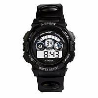 Спортивные часы черного цвета NT-88F