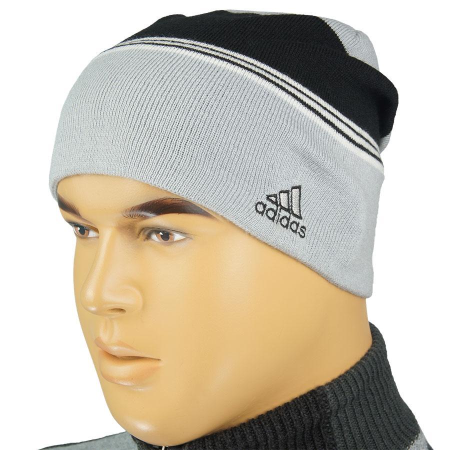 Чоловіча в'язана шапка копія A 0105 на флісі