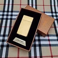 Подарочная USB - зажигалка с гравировкой на заказ. Золото, фото 1