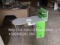 Маникюрный стол с вытяжкой 179м3/ч складной наличие полок для лаков