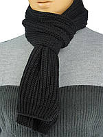 """Чоловічий в'язаний шарф Apex Sport """"STEP"""" в чорному кольорі"""