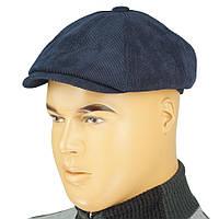 Вельветовий чоловічий картуз Comfort 0240 blue velvet
