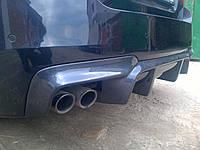 Диффузор заднего бампера-M для BMW F10 (разводка на две трубы)
