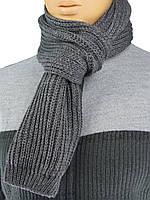 """Сірий чоловічий в'язаний шарф Apex Sport """"STEP"""""""