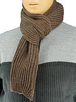 """В'язаний чоловічий шарф Apex Sport """"STEP"""" коричневого кольору"""