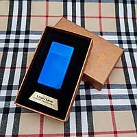 Подарочная USB - зажигалка с гравировкой на заказ. Синяя
