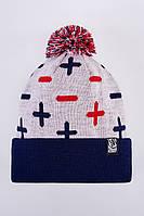 Теплая шапка зимняя мужская Urban Planet PLS_MNS_WHT