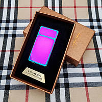 Подарочная USB - зажигалка с гравировкой на заказ. Хамелеон