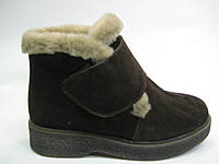 Замшевые женские зимние ботинки на липучке ТМ Камея, фото 1